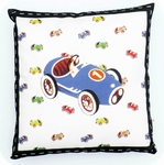 cushion -  race car (excl. pillow)  40cm x 40cm