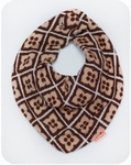 Bib-shawl Retro - Brown/white