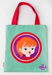 Tote bag Girl - green/red